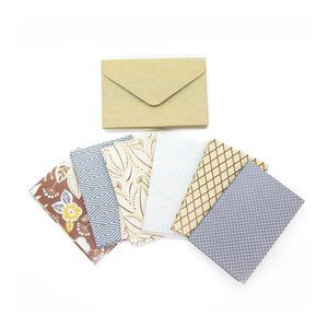 18 MINI Note Cards with Kraft Envelopes , 2.5x3.75